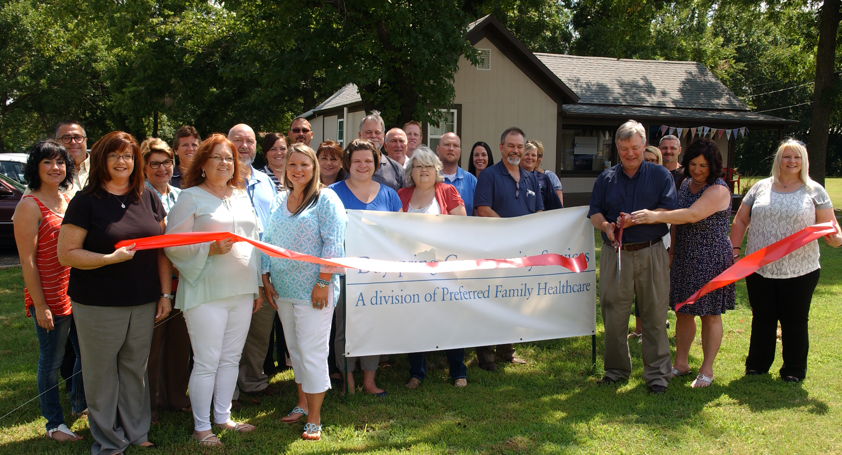 Dayspring Community Services Ribbon Cutting Aug. 2016 location is 900 A. Street Commerce, OK
